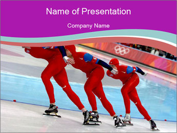 Olympic Competition PowerPoint Template - Slide 1