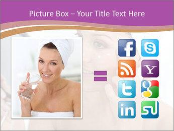 Woman Applying Cream PowerPoint Template - Slide 21