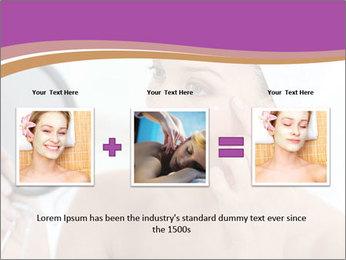 Woman Applying Cream PowerPoint Template - Slide 22