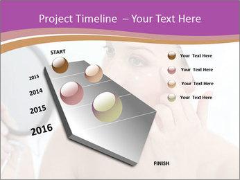 Woman Applying Cream PowerPoint Template - Slide 26