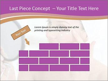 Woman Applying Cream PowerPoint Template - Slide 46