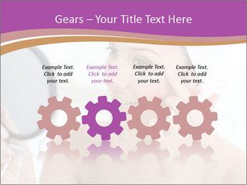 Woman Applying Cream PowerPoint Template - Slide 48