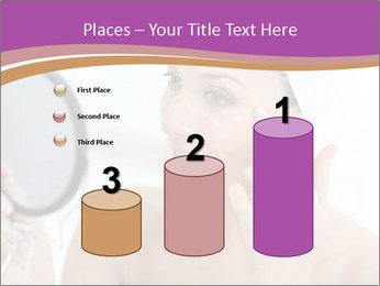 Woman Applying Cream PowerPoint Template - Slide 65