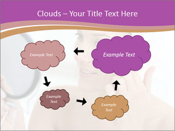 Woman Applying Cream PowerPoint Template - Slide 72