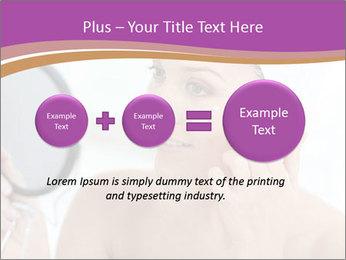 Woman Applying Cream PowerPoint Template - Slide 75