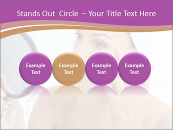Woman Applying Cream PowerPoint Template - Slide 76