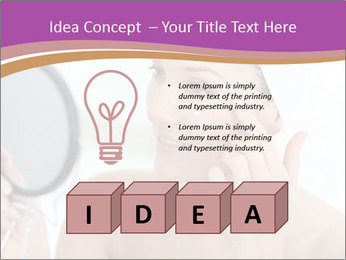 Woman Applying Cream PowerPoint Template - Slide 80