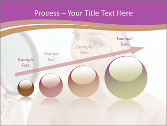 Woman Applying Cream PowerPoint Template - Slide 87