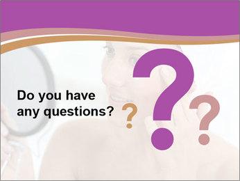 Woman Applying Cream PowerPoint Template - Slide 96