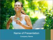 Joyful Sporty Woman PowerPoint Template