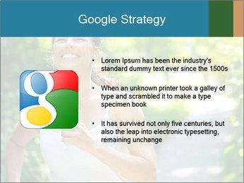 Joyful Sporty Woman PowerPoint Template - Slide 10