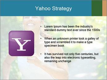 Joyful Sporty Woman PowerPoint Template - Slide 11