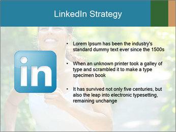Joyful Sporty Woman PowerPoint Template - Slide 12