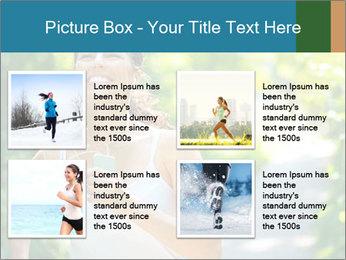 Joyful Sporty Woman PowerPoint Template - Slide 14