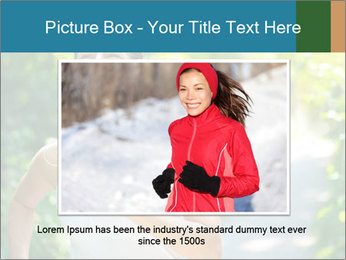 Joyful Sporty Woman PowerPoint Template - Slide 16