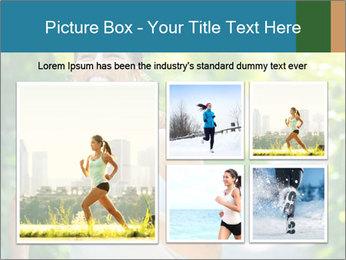 Joyful Sporty Woman PowerPoint Template - Slide 19