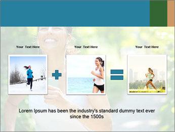 Joyful Sporty Woman PowerPoint Template - Slide 22