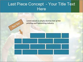 Joyful Sporty Woman PowerPoint Template - Slide 46