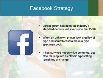 Joyful Sporty Woman PowerPoint Template - Slide 6