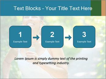 Joyful Sporty Woman PowerPoint Template - Slide 71