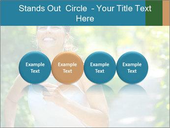 Joyful Sporty Woman PowerPoint Template - Slide 76