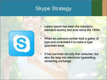 Joyful Sporty Woman PowerPoint Template - Slide 8