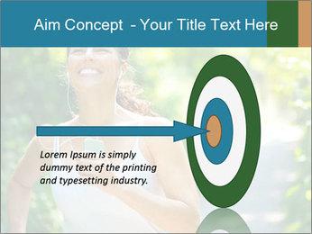 Joyful Sporty Woman PowerPoint Template - Slide 83