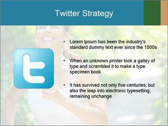 Joyful Sporty Woman PowerPoint Template - Slide 9