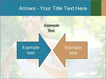 Joyful Sporty Woman PowerPoint Template - Slide 90