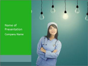 Creative Corean Woman PowerPoint Template