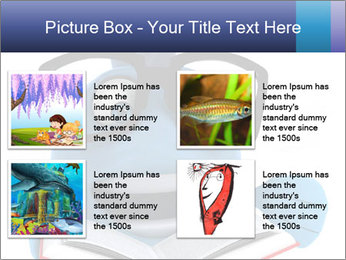 Blue Fish With Books PowerPoint Template - Slide 14