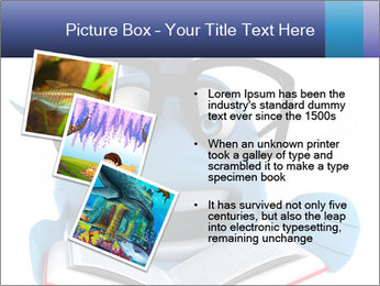 Blue Fish With Books PowerPoint Template - Slide 17
