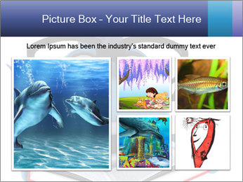 Blue Fish With Books PowerPoint Template - Slide 19