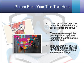 Blue Fish With Books PowerPoint Template - Slide 20