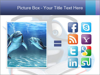Blue Fish With Books PowerPoint Template - Slide 21