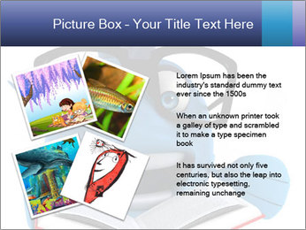 Blue Fish With Books PowerPoint Template - Slide 23