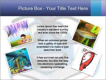 Blue Fish With Books PowerPoint Template - Slide 24