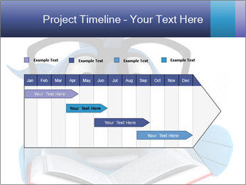 Blue Fish With Books PowerPoint Template - Slide 25
