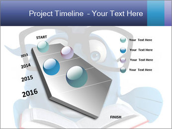 Blue Fish With Books PowerPoint Template - Slide 26