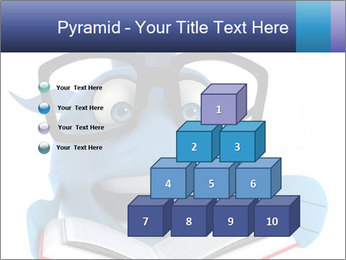 Blue Fish With Books PowerPoint Template - Slide 31