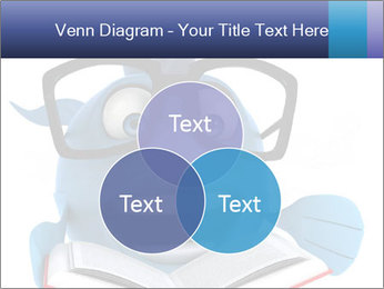 Blue Fish With Books PowerPoint Template - Slide 33