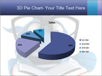 Blue Fish With Books PowerPoint Template - Slide 35