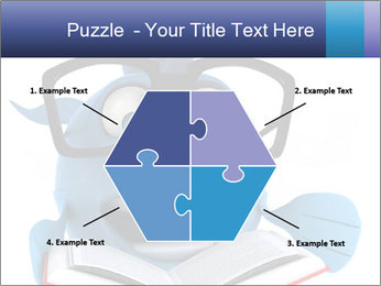 Blue Fish With Books PowerPoint Template - Slide 40