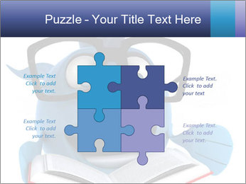 Blue Fish With Books PowerPoint Template - Slide 43