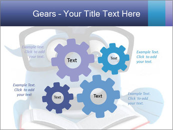 Blue Fish With Books PowerPoint Template - Slide 47