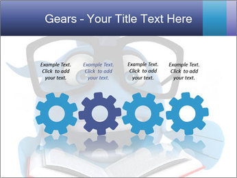 Blue Fish With Books PowerPoint Template - Slide 48