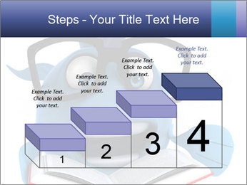 Blue Fish With Books PowerPoint Template - Slide 64