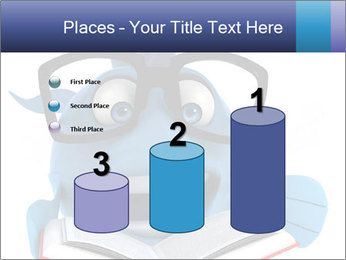 Blue Fish With Books PowerPoint Template - Slide 65