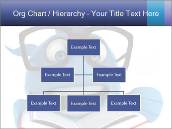 Blue Fish With Books PowerPoint Template - Slide 66