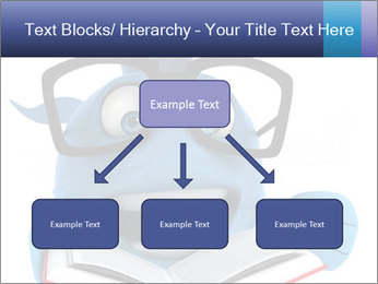 Blue Fish With Books PowerPoint Template - Slide 69
